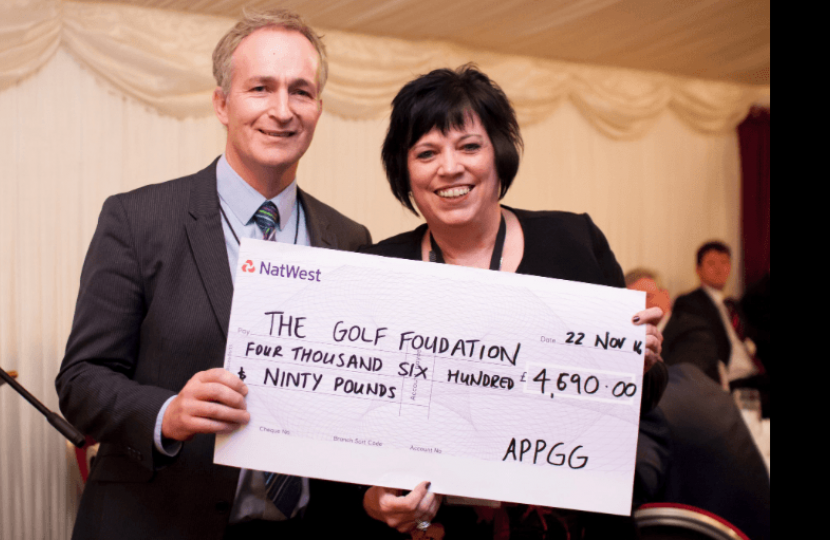 Supporting the Golf Foundation at The All-Party Parliamentary Golf Group Dinner