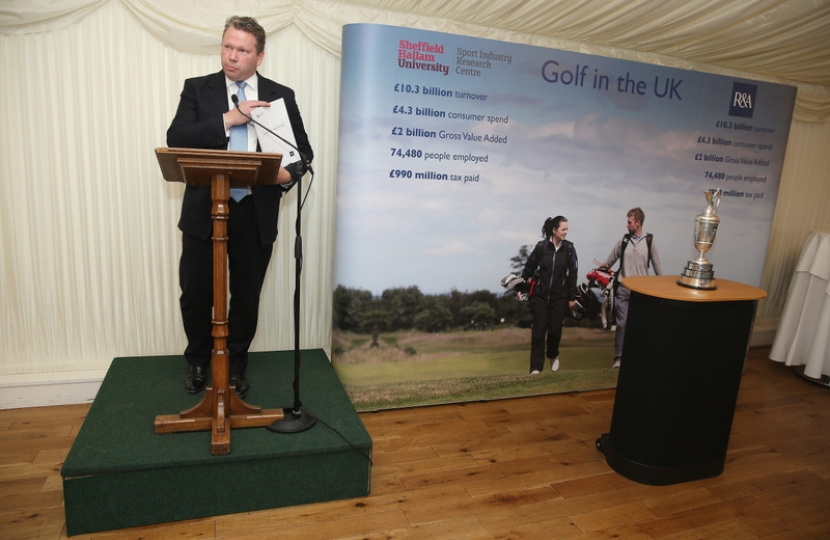 Karl addresses The All-Party Parliamentary Golf Group