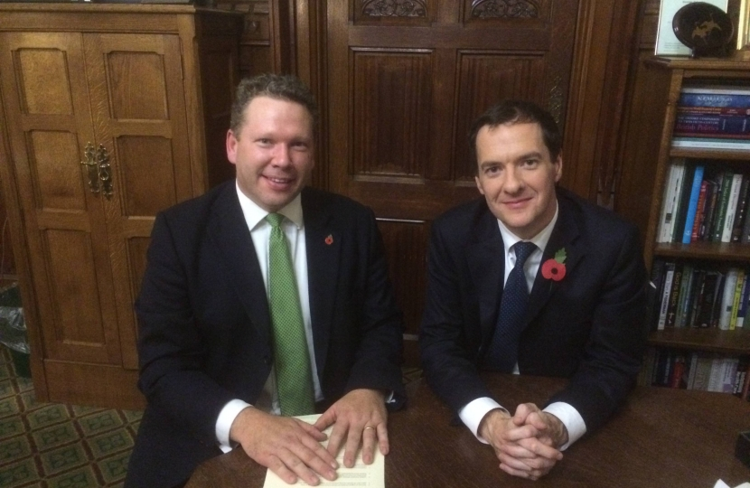 Karl McCartney with George Osborne