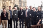 Karl McCartney JP MP with Service Personnel from RAF Waddington on the House of Commons' Terrace